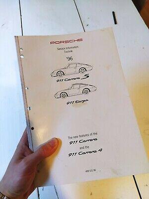 1996 Porsche 911 Carrera 4S / Targa Service Repair Shop Manual 993