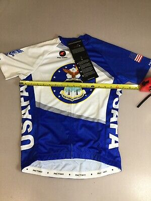 Pactimo Mens Size Small S Cycling Jersey Air Force  (6910-23) Air Force Cycling Jersey