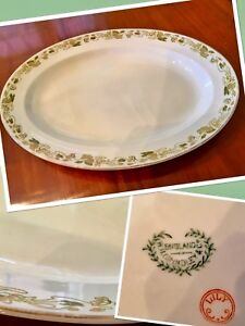 "Early 1900's Antique 18 x 13"" W.H.Grindley""Lily""pattern platter"