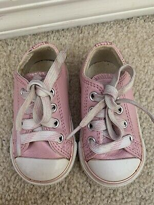 Converse All Star Girls Pink Sneaker Shoes Size 4 Toddler