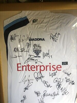 PRESTON NORTH END 2005/2006 SIGNED SHIRT FOOTBALL image
