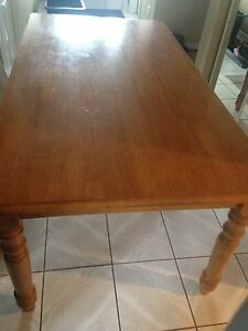 Kitchen table solid with 6 chairs