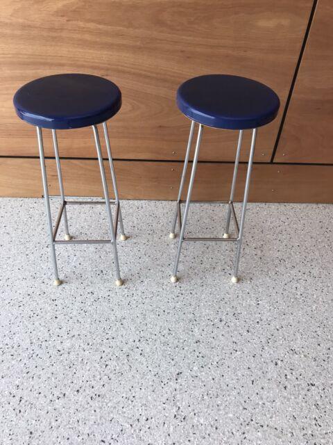Two sturdy blue kitchen stools   Stools & Bar stools ...