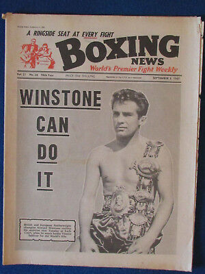 Boxing News Magazine   3 9 65   Howard Winstone Cover
