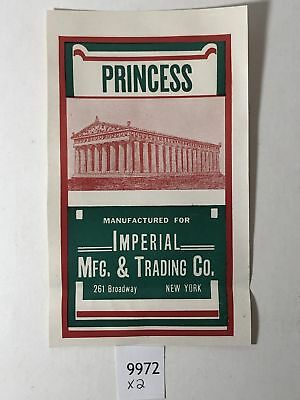Rare Princess ~ Imperial Mfg and Trading Co Label ~ New York
