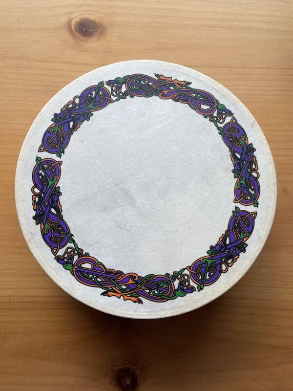 """Irish 8"""" Drum Handpainted Celtic Design"""