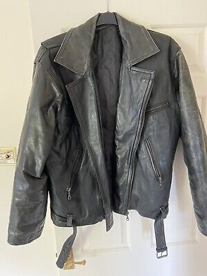 Classic / Vintage Men's Black Biker Jacket (XL)