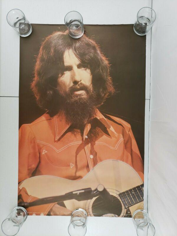 "Vintage George Harrison 1971 Original 24.5""x37.5"" Poster Pace International #192"