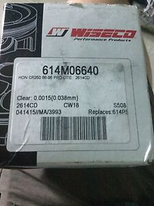 Wiseco 86-96 CR250 Piston With Bearing $165 obo