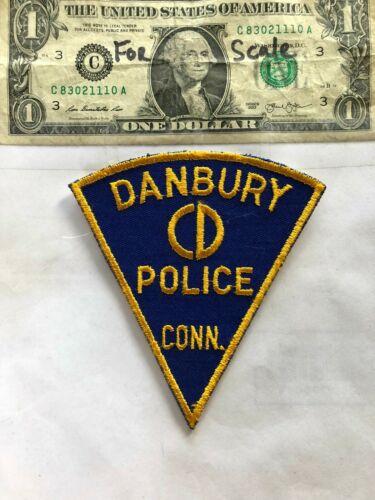 Old Rare Danbury Connecticut Police Patch Un-sewn great shape