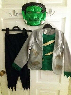 HALLOWEEN COSTUME WITH MASK (FRANKENSTEIN )AGE 3-4YRS for sale  Liverpool