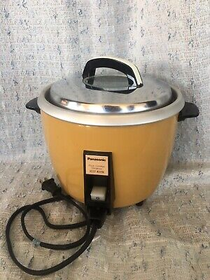 Mellowed Panasonic Rice Cooker Steamer Mustard color  Tested Works