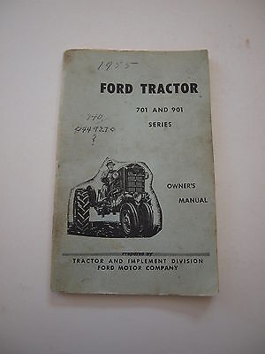 Ford 701901 741771941971981 Tractor Operators Owners Manual Orig. 59