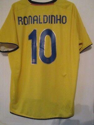 13411fe2c Barcelona 2008-2009 Away Ronaldinho 10 Football Shirt Adult Size XXL  43475