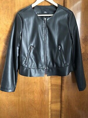 Zara Faux Leather Thrill Short Jacket Size XL
