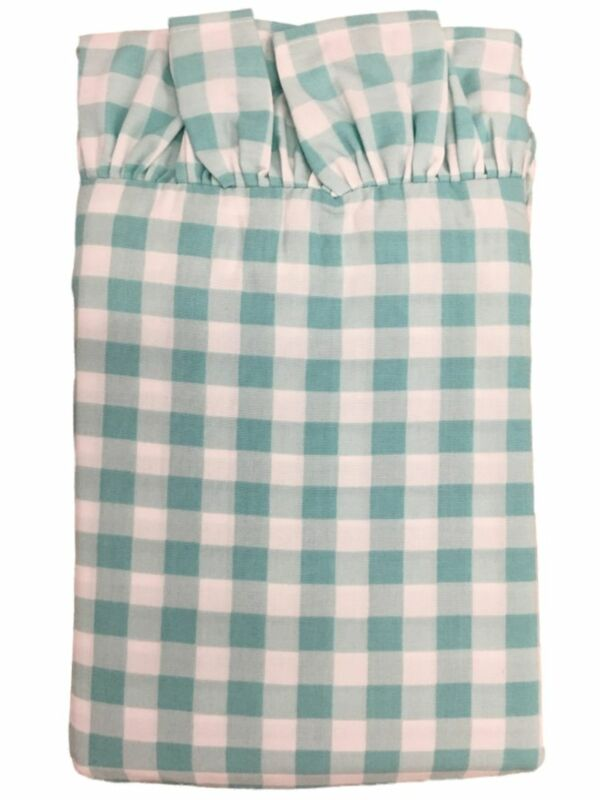 The Pioneer Woman Teal Gingham Check Pillowcase Set, 2 Standard Pillow Cases