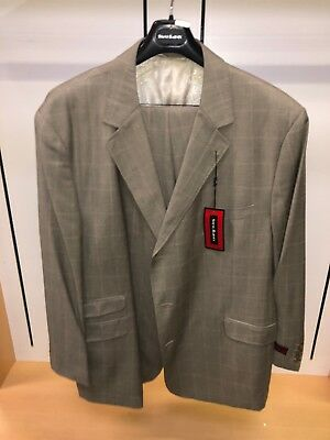BNWT Steve HARVEY 56R Beige BIG CHECKS WOW FASHION Exotic Adams Suit 2PC Stacy for sale  Seaford