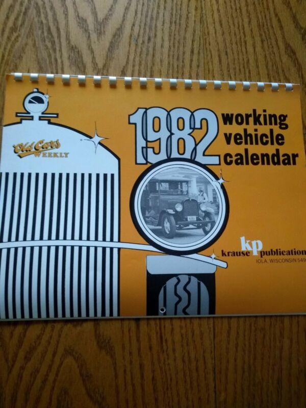 Vintage 1982 Old Cars Calendar