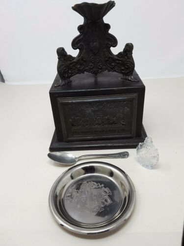 Vintage Ornate Roman Catholic Last Rites Sick Call Box