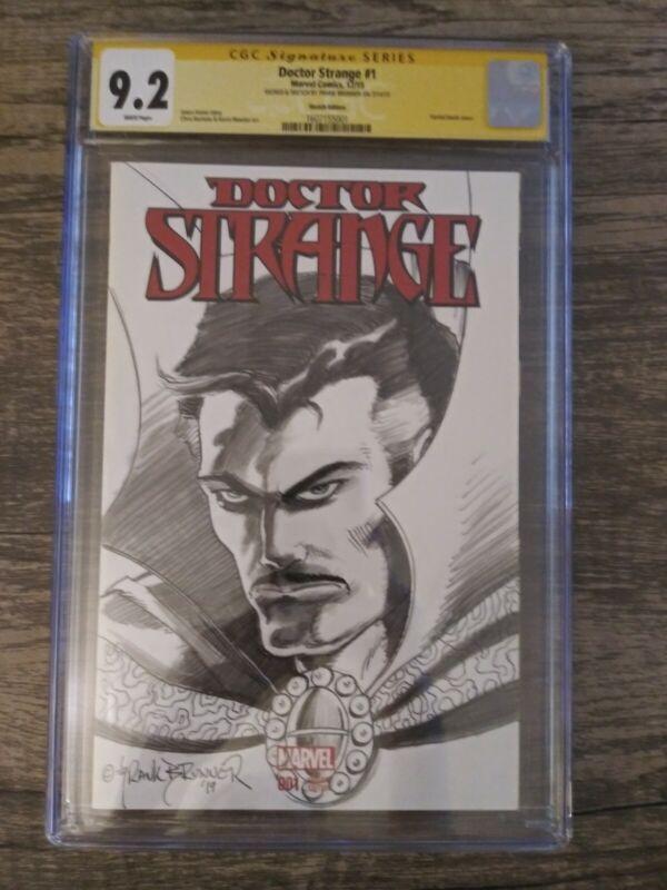 Dr Strange Sketch Edition Original Comic Art SS Frank Brunner 9.8
