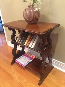 Antique Console/Bookcase / End Table - Walnut