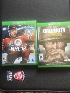 Selling un opened NHL18 and cod ww2