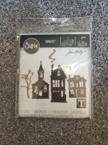 Sizzix Halloween Thinlits Dies, Ghost Town 664194