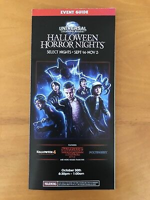 l Studios Orlando Halloween Horror Nights Brochure Map 10/30 (Halloween Horror Nights 10)