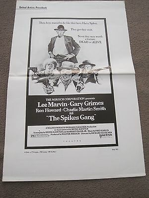 RARE 1974 6 page pressbook The Spikes Gang Lee Marvin Ron Howard Gary Grimes