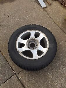 15 inch rims and studded tires.