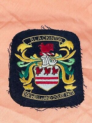 Vintage BLACKINTON Coat of Arms Fabric Embroidered Patch ~ Unused