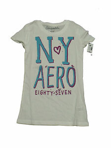 100-Authentic-Womens-AEROPOSTALE-Graphic-T-Shirt-White-Size-S-M-L-5839-1-2