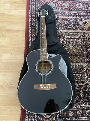 Martin Smith Electro Electric Acoustic Guitar With Case - Black