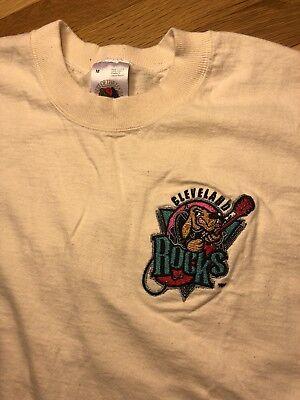 Cleveland Indians Rock (90s VTG Cleveland ROCKS Shirt Mens Medium Retro 90s Indians Cavs Jersey Browns)