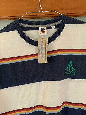 NWT Atari rugby style multi colored T-Shirt, Size L