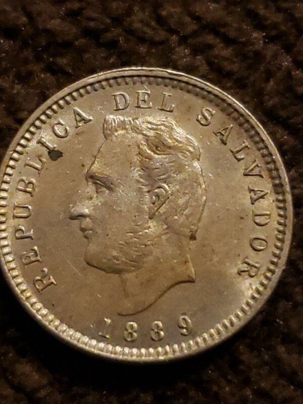 1889 El Salvador 3 Centavos Great Condition