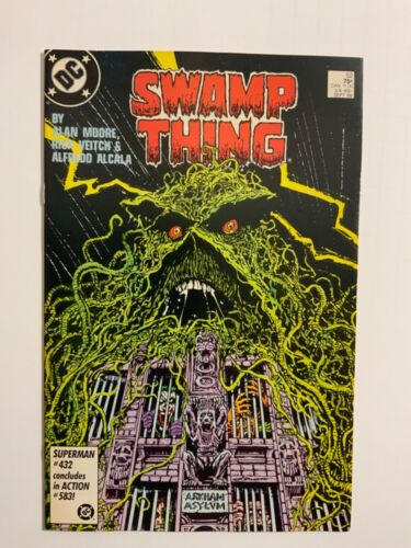 Swamp Thing #52 Arkham Alan Moore - I COMBINE SHIPPING
