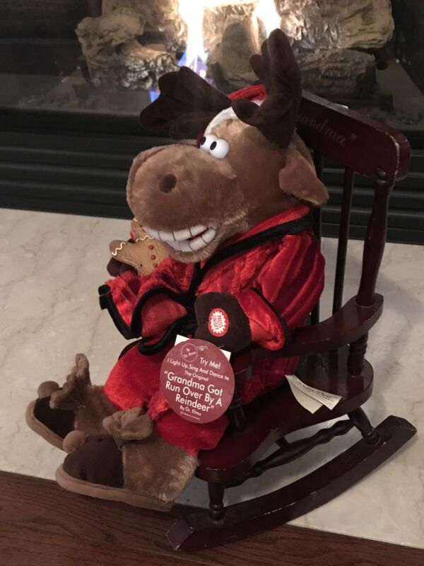 DanDee Grandma Got Run Over By A Reindeer Plush Rocking Chair Singing SEE VIDEO!