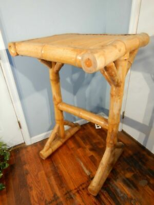 Large Bamboo PUB Table indoors or out for Tiki Bars handmade stand up table