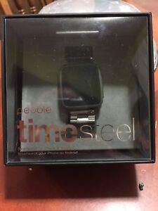 Pebble time steel smart watch