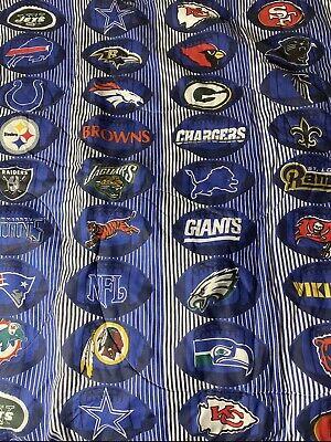 Vintage 1995 NFL Football Teams Twin Size Bed Comforter Blanket 72