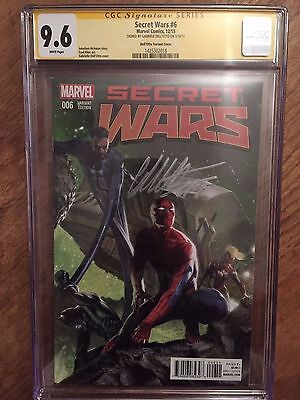 SECRET WARS  #6  1:25 VARIANT CGC SS 9.6   (SIGNED BY GABRIELE DELL'OTTO)
