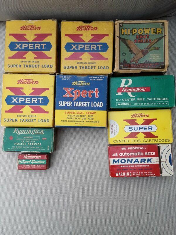 Vintage EMPTY AMMO BOXES