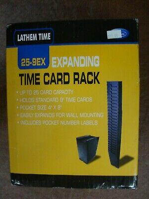 Lathem Time Expandable Time Card Rack Black 25-9ex