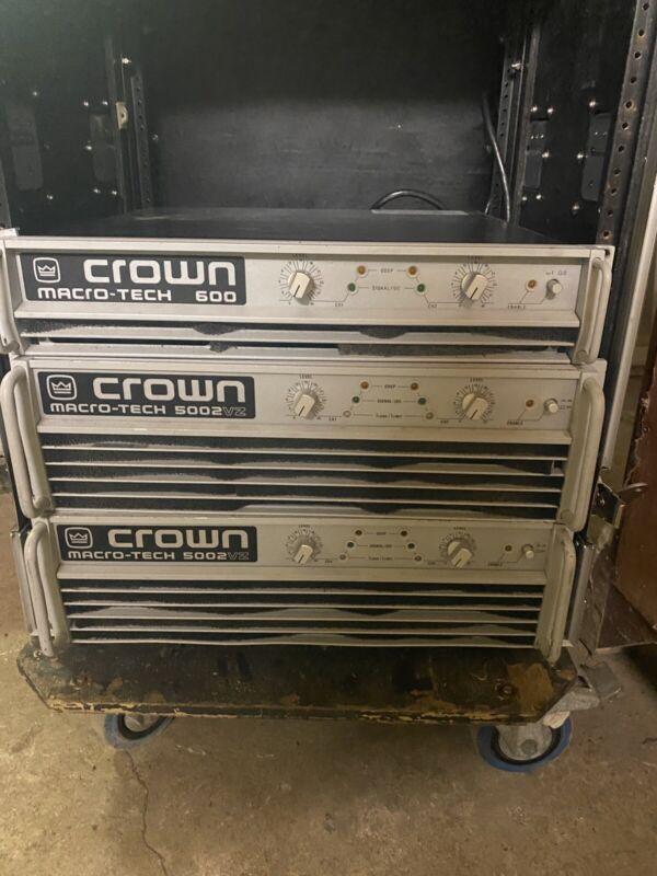 Crown Macro-Tech 5002VZ Audio Power Amplifier Stereo/Bridge 5000 Watts 120V AC