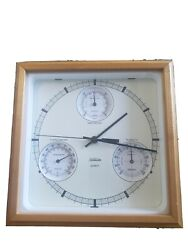 Sunbeam quartz clock with Barometer, Humidity, and Thermometer gauges