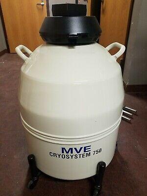 Mve Cryosystem 750 Cryogenic Sample Storage W Roller Mint Condition