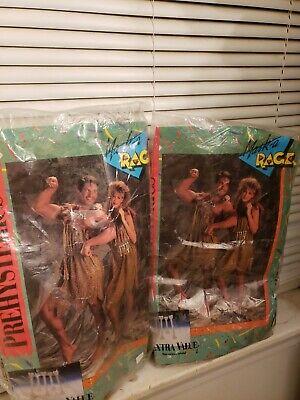 Mask A Rag Caveman Cave Girl Set  eighties