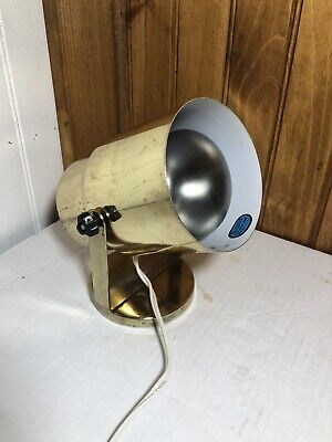 80s Vintage Swivel Spot Lamp Mid Century Metal Gold Brass Desk Lamp California
