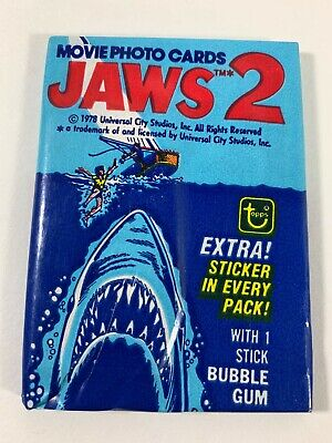 1978 Topps Jaws 2 Wax Pack Unopened